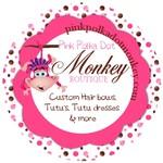 Pink Polka-Dot Monkey BOUTIQUE